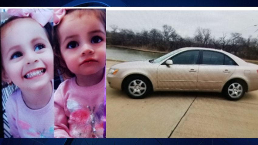 Dallas Police say they are currently searching for a 3-year-old girl and her two-year-old sister after the car they were inside was stolen.