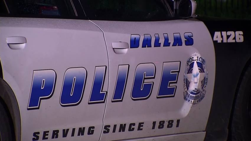 dallas police car door
