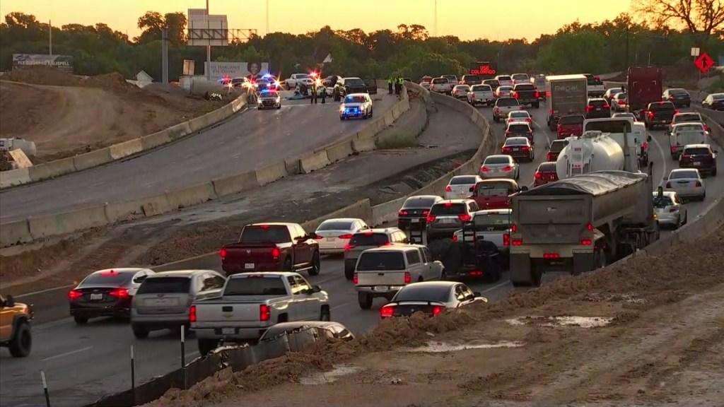 crash scene traffic backup