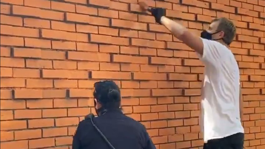 dirk painting wall