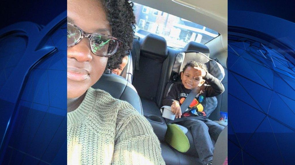 ebony jones and her son