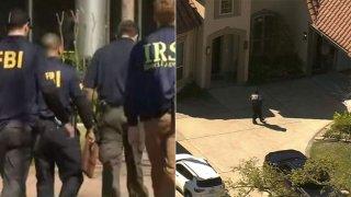 agents walk into building