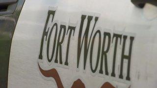 fort worth police car closeup generic