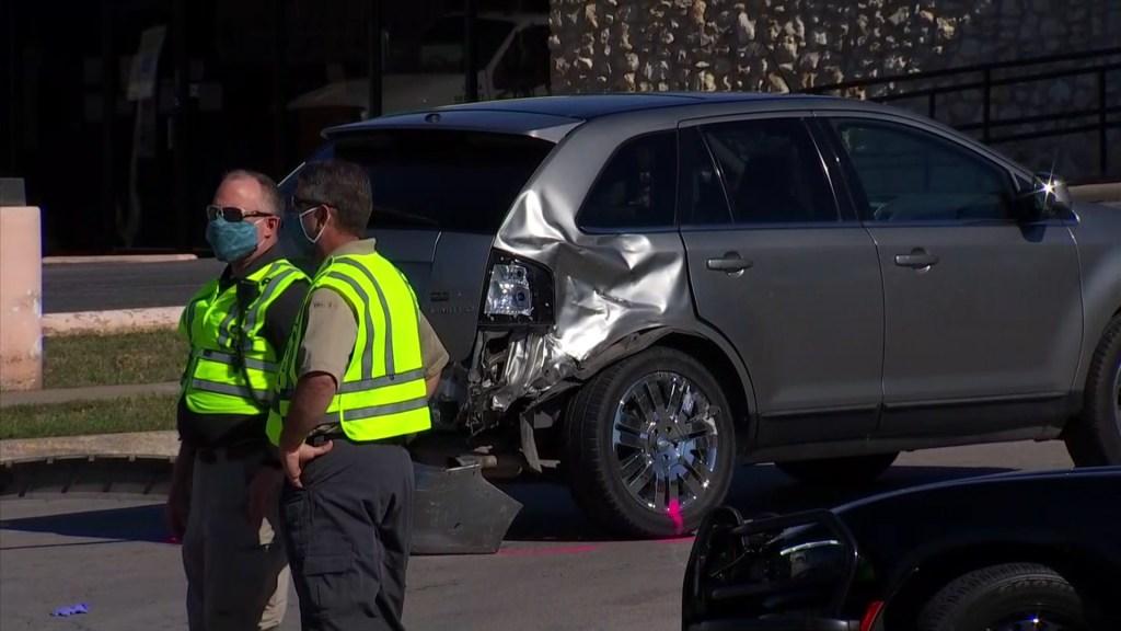 damaged SUV