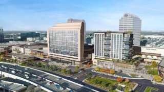 Preliminary designs show the addition of a residential tower and cinema at the Galleria Dallas.