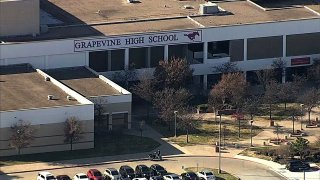Grapevine High School was locked down Friday, Dec. 13, 2019, after a student was reported to be on campus while armed. A gun was later found and one person was detained.