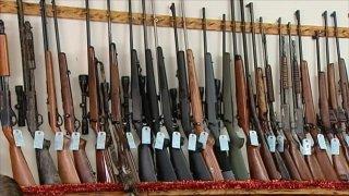 file photo of guns at a gun store