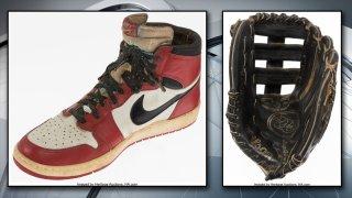 jordan's shoe and glove