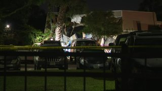 One Houston police officer was killed and a second was injured when the helicopter they were in crashed early Saturday into a building while responding to a call.