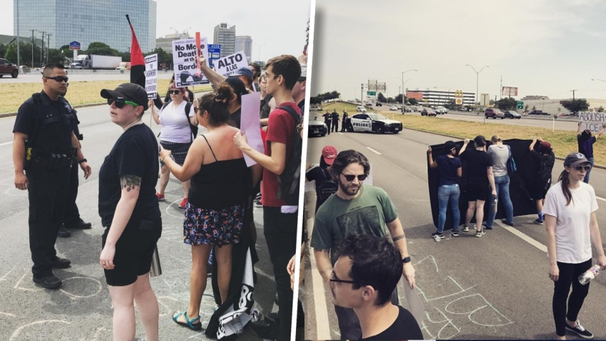 ice protest arrests