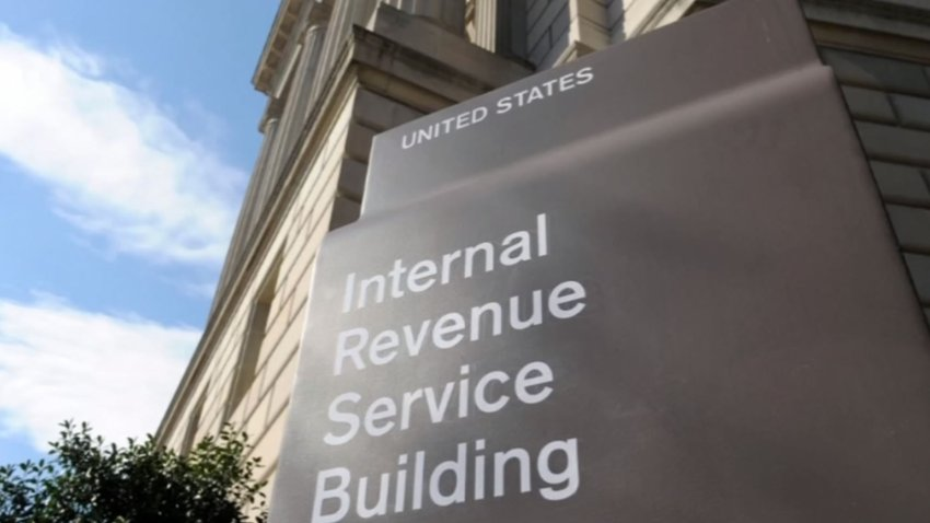 A file photo of an IRS building sign.