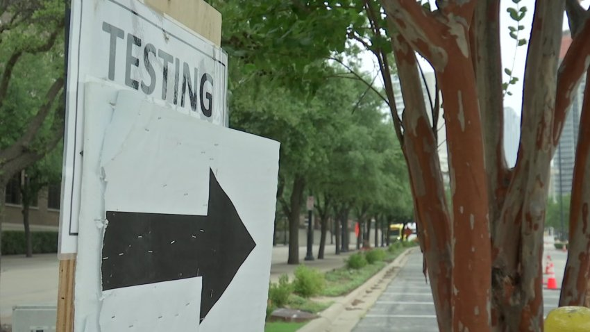 Dallas County opened a new coronavirus testing site in Irving on Wednesday, July 1, 2020.