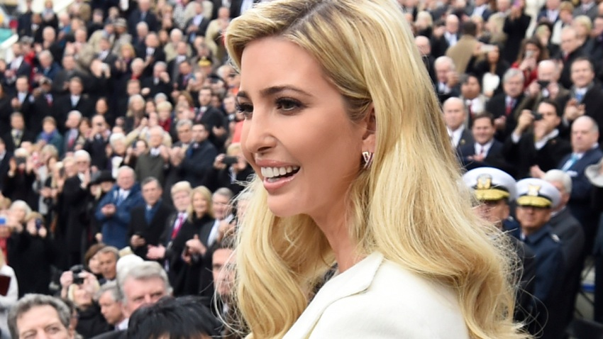 In this Jan. 20, 2017, file photo, Ivanka Trump arrives for the Presidential Inauguration of her father Donald Trump at the U.S. Capitol in Washington, D.C.