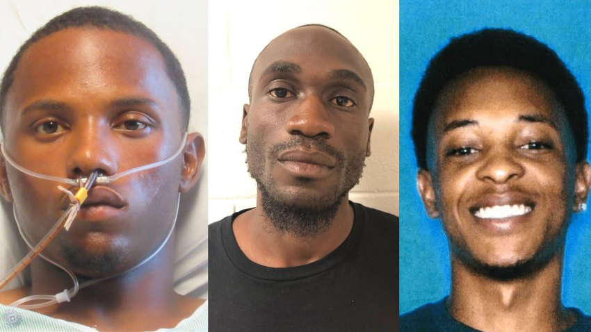 From left to right: Jacquerious Mitchell, 20; Michael Diaz Mitchell, 32; Thaddeous Charles Green, 22