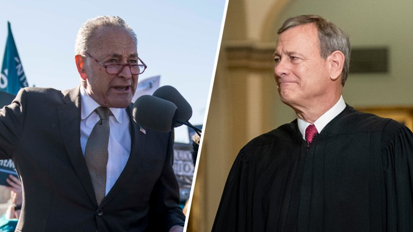 Justice John Roberts and Senate Minority Leader Sen. Chuck Schumer