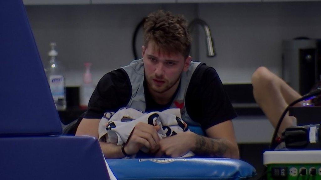 Luka on training table