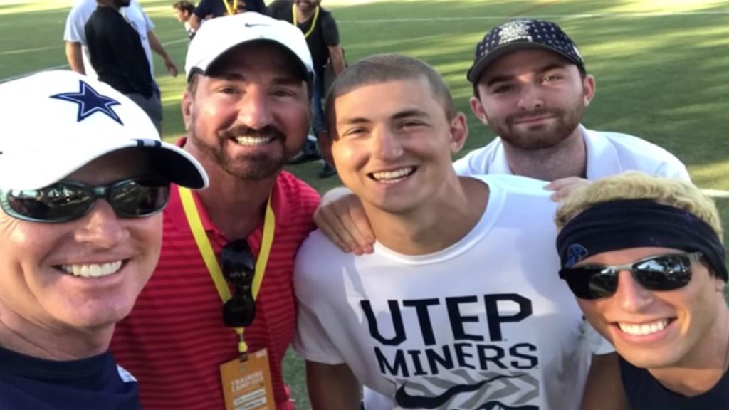 Luke Laufenberg and father with Jason Garrett