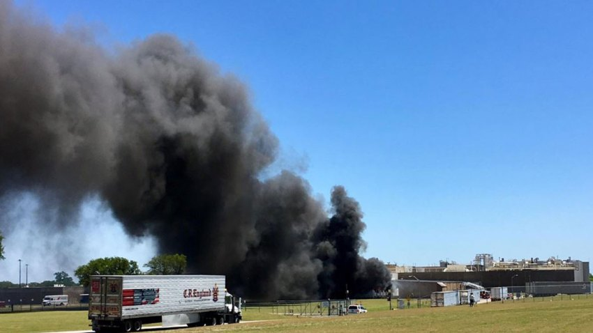 Mars Candy Plant on Fire in Waco