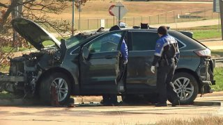 An Arkansas couple traveling to McKinney were killed after a crash in Sherman Saturday morning, police say.