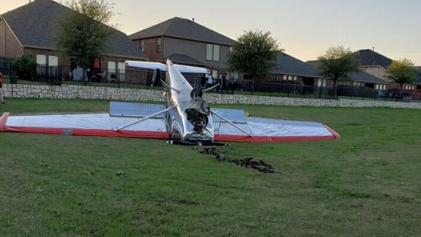 The pilot of a single-engine Cessna 150 is okay after his plane crashed in McKinney.