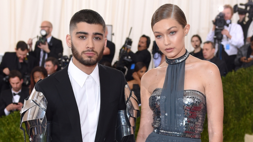 "In this May 2, 2016, file photo, Gigi Hadid and Zayn Malik arrive for the ""Manus x Machina: Fashion In An Age Of Technology"" Costume Institute Gala at Metropolitan Museum of Art in New York City."