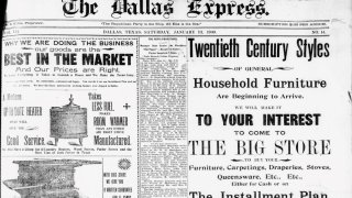 A front page of The Dallas Express from Jan. 13, 1900.