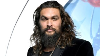 """In this Dec. 12, 2018, file photo, Jason Momoa arrives at the premiere of Warner Bros. Pictures' """"Aquaman"""" at the Chinese Theatre in Los Angeles, California."""