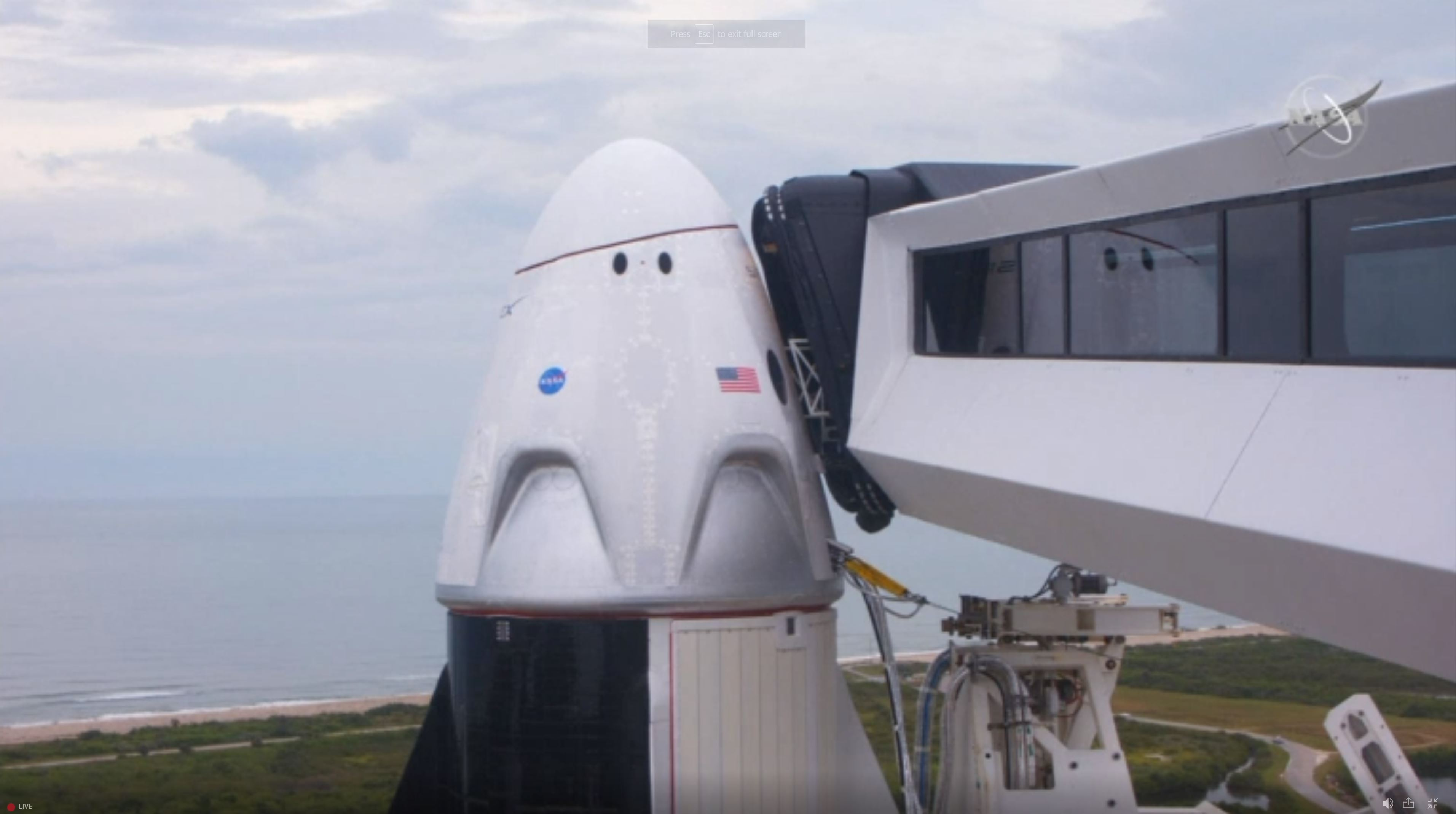 NASA/SpaceX Launch Scrubbed Due to Bad Weather
