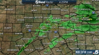 Light Rain Falls Across North Texas Sunday