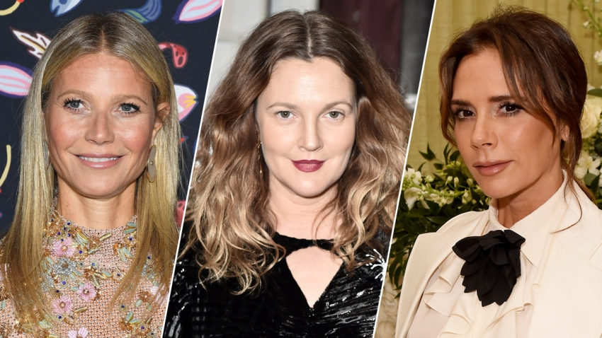 From left: Gwyneth Paltrow, Drew Barrymore and Victoria Beckham.
