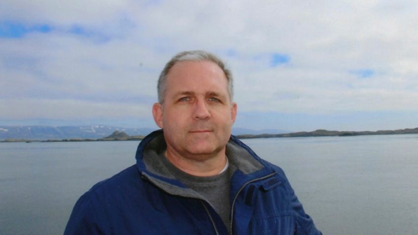 This undated photo provided by the Whelan family shows Paul Whelan in Iceland. Whelan, a former U.S. Marine arrested in Russia on espionage charges, was visiting Moscow over the holidays to attend a wedding when he suddenly disappeared, his brother said Tuesday, Jan. 1, 2019.