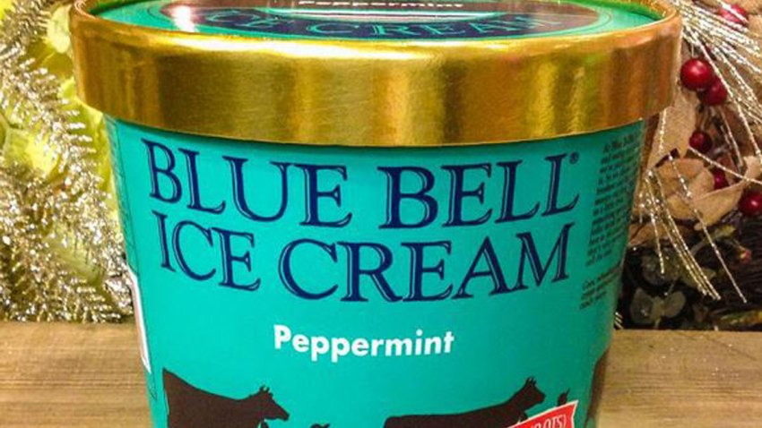 Peppermint Ice Cream flavor from Blue Bell