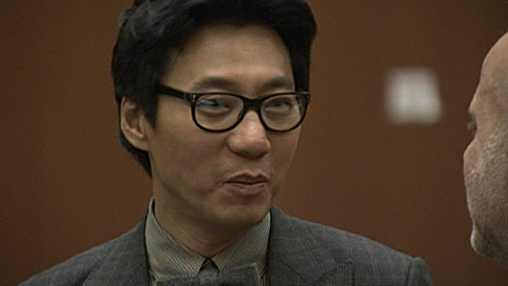 pinkberry founder arraignment closeup smiling