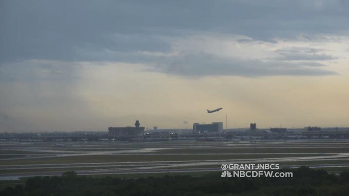 rain dfw airport