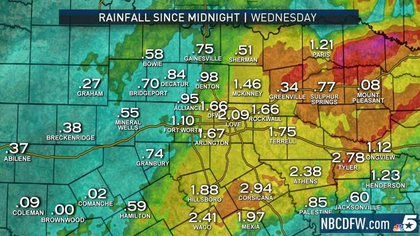 Heavy Rain Gone Skies Remain Overcast Cold Nbc 5 Dallas Fort Worth
