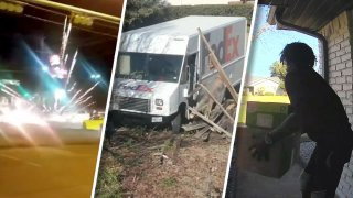 Street racing chaos, a FedEx truck smashing a fence and driving away and porch pirates caught on camera are some of the top stories of the week.