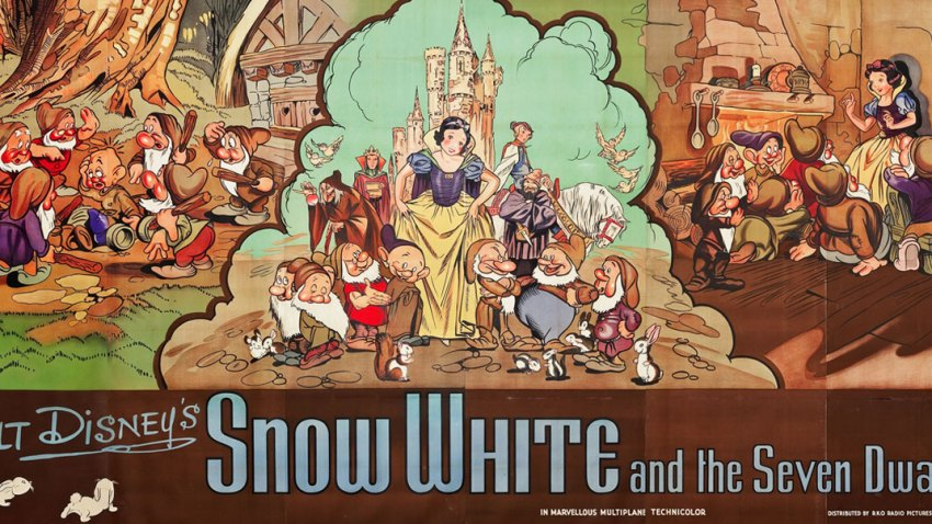 Snow White and the Seven Dwarfs billboard