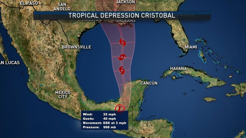 projected path of td cristobal