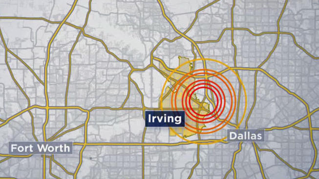 temblor en Irving