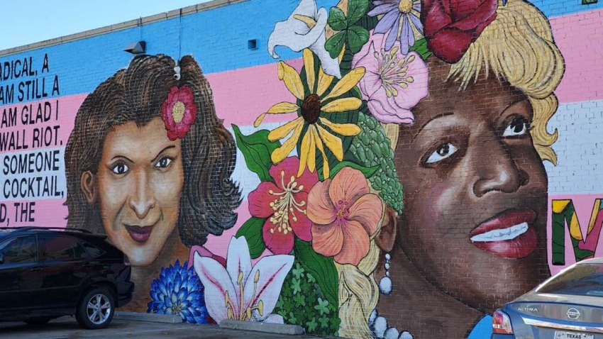 A Dallas artist has restored a mural celebrating transgender women of color that was vandalized a week ago.