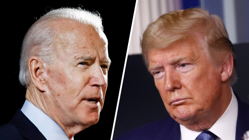 Former Vice President Joe Biden (left) and President Donald Trump (right).