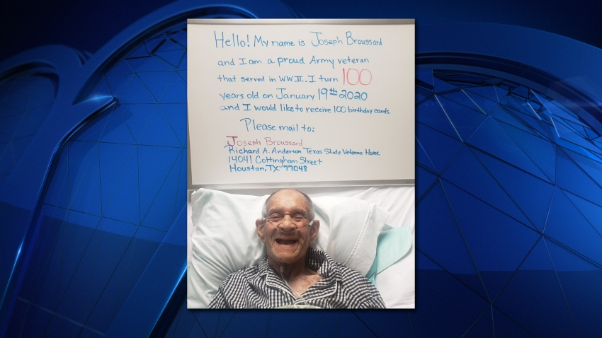 Houston WWII Veteran Turning 100 Asks for 100 Birthday Cards