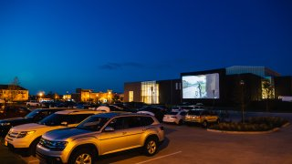 Drive-in movie theater at Coppell Arts Center