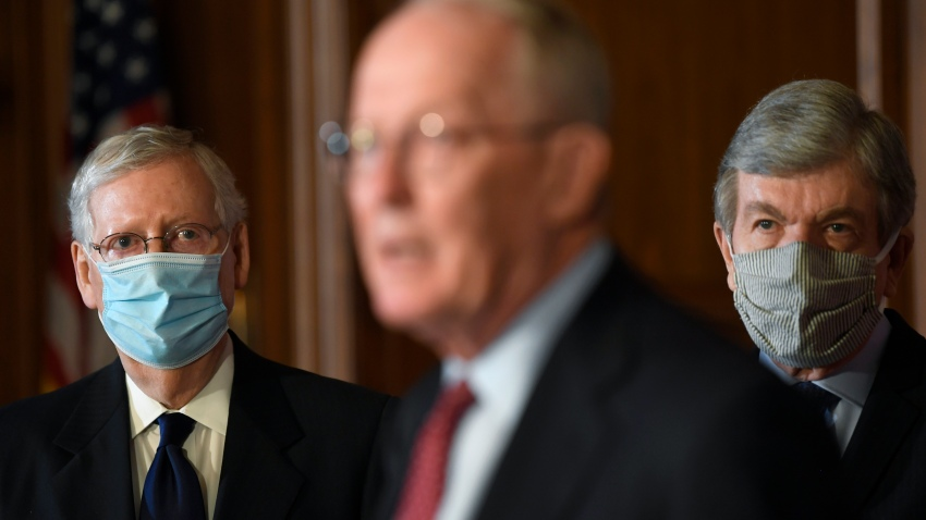 Senate leadership discuss the HEALS Act in Congress