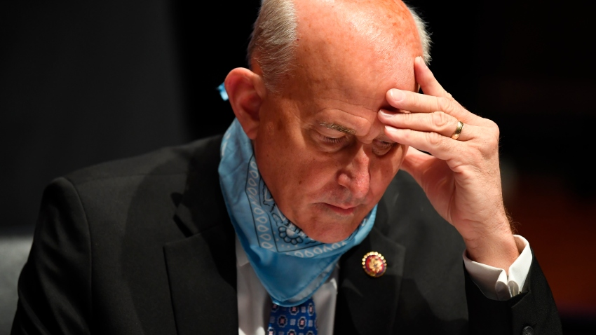 Rep. Louie Gohmert, R-Texas, studies notes during a House Judiciary Committee hearing on the oversight of the Department of Justice on Capitol Hill, Tuesday, July 28, 2020 in Washington.