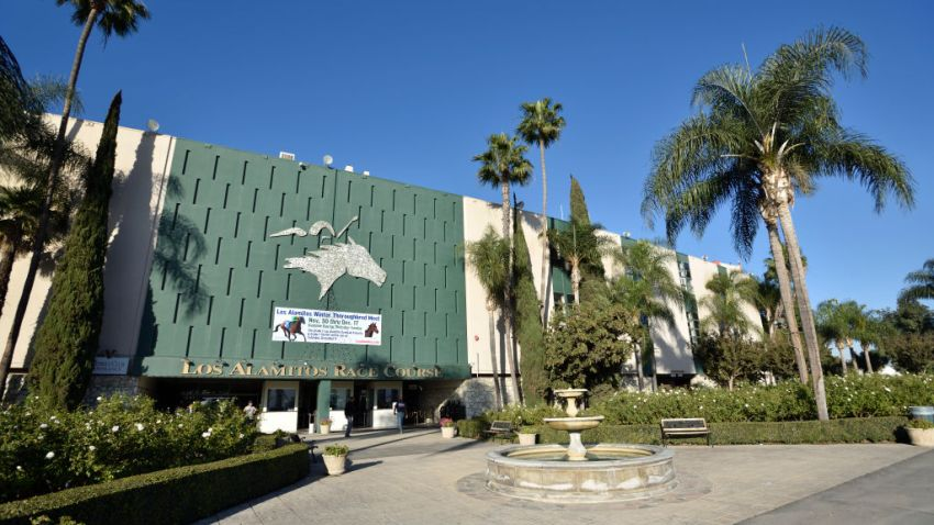 File photo of the Los Alamitos race track.