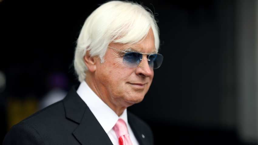 LOUISVILLE, KENTUCKY - MAY 03: Kentucky Derby trainer Bob Baffert looks on before the 145th running of the Kentucky Oaks at Churchill Downs on May 3, 2019 in Louisville, Kentucky.