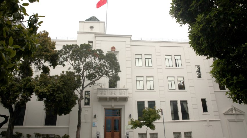 A view of the Consulate General of China on July 24, 2020 in San Francisco, California. Juan Tang, a researcher at the University of California, Davis who took refuge in the Chinese consulate in San Francisco, was arrested for allegedly lying to investigators about her Chinese military service.