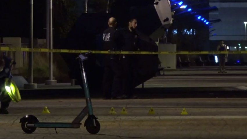 Officers responded about 1:45 a.m. to the Ronald Kirk pedestrian bridge near Trinity Groves, where they found the two victims with gunshot wounds.