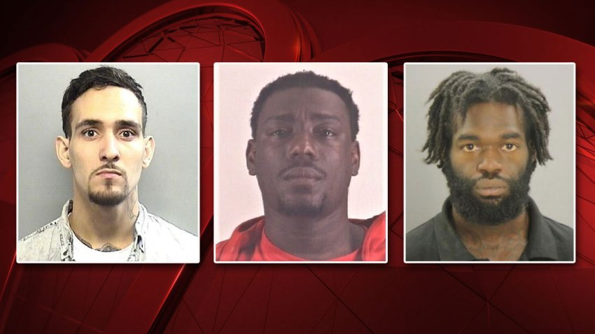 From left: Jacob Anthony Malin, Christopher Jamond Walker and Ladarus Demarquis Earl Keys.
